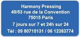 harmony pressing adresse