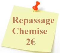 Repassage Chemise 2 euros